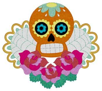 Sugar Skull W/roses