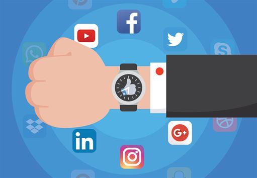 Um welche Uhrzeit posten Sie auf sozialen Medien?